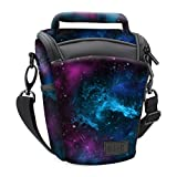 SLR/DSLR Camera Case Bag for Mirrorless , Micro 4/3 with Top Loading Accessibility , Adjustable Shoulder Sling , Padded Handle , Removeable Rain Cover & Weather Resistant Bottom by USA Gear - Galaxy