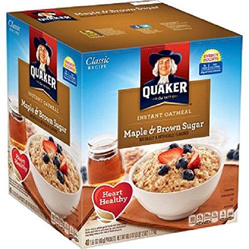 Instant Oatmeal Maple Brown Sugar (Quaker Instant Oatmeal Cereal, Maple and Brown Sugar, 60.6 Ounce)