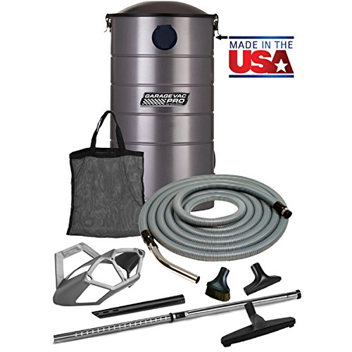 VacuMaid GV50PRO Professional Wall Mounted Utility Vacuum with 50 ft Hose and Tools