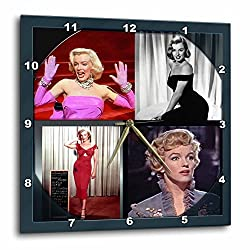 3dRose dpp_107180_3 Marilyn Monroe Collage-Wall Clock, 15 by 15-Inch