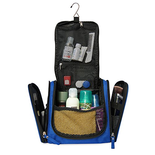 1f0a9e56f600 Spacious Premium Toiletry Bag with hanging hook | Large Travel Kit ...