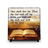 Thou Shalt Love The Lord Thy God With All Thy Heart Matthew 22:37 (11.5X11.5, KJV) | Superior Religious Inspirational Home Décor By Inspiragifts | High Quality Slate | Christian Home Plaque Stone Gift Review