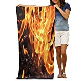 Personalized Campfire Fireplace Grill Large Beach Towel Pool Towel,swim Towels For Bathroom,Gym,and Pool 31 In X51 In