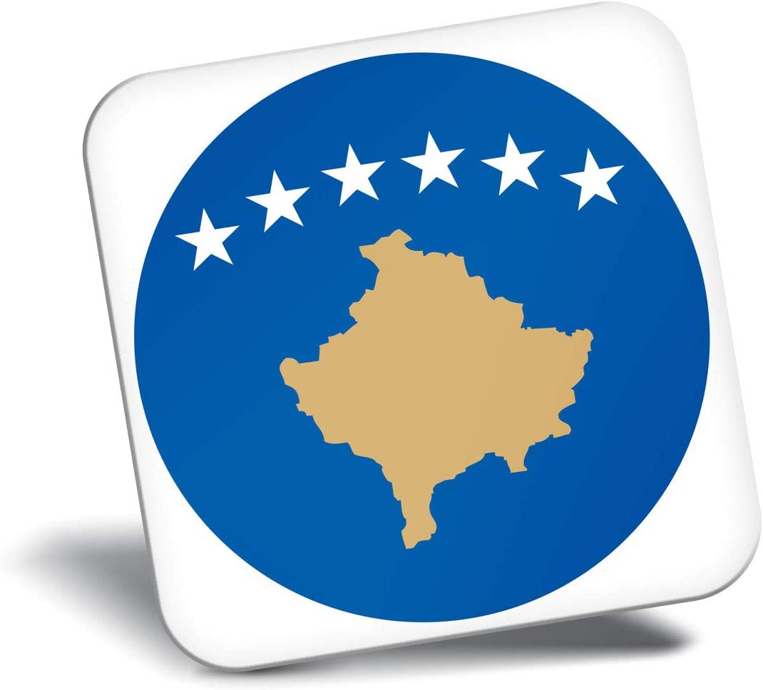 Destination Vinyl ltd Awesome Fridge Magnet - Kosovo Flag Map 9043