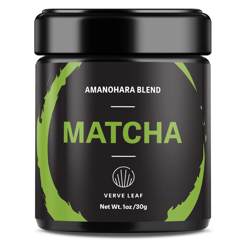 Verve Leaf Premium Japanese (Uji) Ceremonial Grade Matcha - Authentic Matcha With a Vivid Green Colour - Our Pure Matcha Provides Sustained Energy and Boosts Your Metabolism - Amanohara (1oz-30g)
