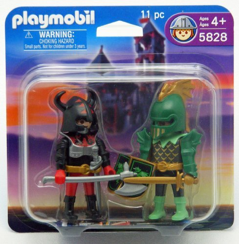 Playmobil 5828 Green Knight and Viking Blister Pack ()