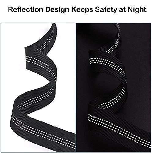 XIRGS Dog Seat Belt, 2PCS Adjustable Headrest Pet Safety Belt Metal Buckle Elastic Buffered Reflective Stripe Durable Nylon Pet Car Seatbelt Universal Vehicle Seatbelt Dog Harness for Travel Daily Use