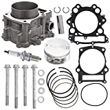 NICHE 100mm 660cc Cylinder Piston Top End Rebuild Kit For 2001-2008 Yamaha Grizzly Rhino Raptor 660 R 5KM-11310-00-00