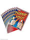 10 Pack of Pop Art 'Thank You' Cards
