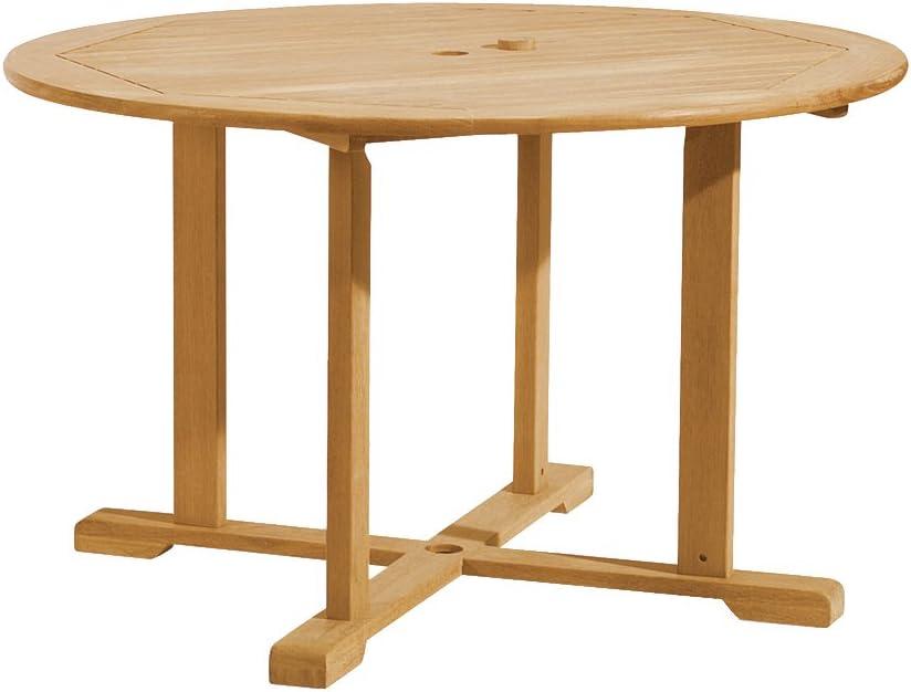 Oxford Garden 48 Round Shorea Dining Table 100 Tropical Shorea Hardwood Outdoor Furniture