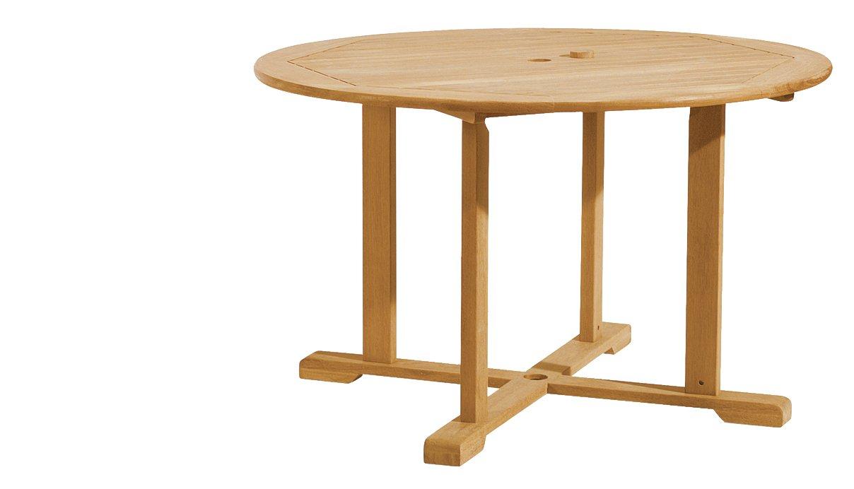 Outdoor round dining table - Amazon Com Oxford Garden 67 Inch Round Shorea Dining Table Patio Tables Garden Outdoor