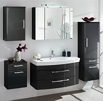 badezimmerm bel anthrazit hochglanz icnib. Black Bedroom Furniture Sets. Home Design Ideas
