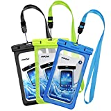Mpow Waterproof Case, New Type PVC Waterproof Phone Case, Universal Dry Bag for iPhone8/8 Plus/7/7 Plus/ Galaxy/ Google Pixel/ LG/ HTC (3-Pack)