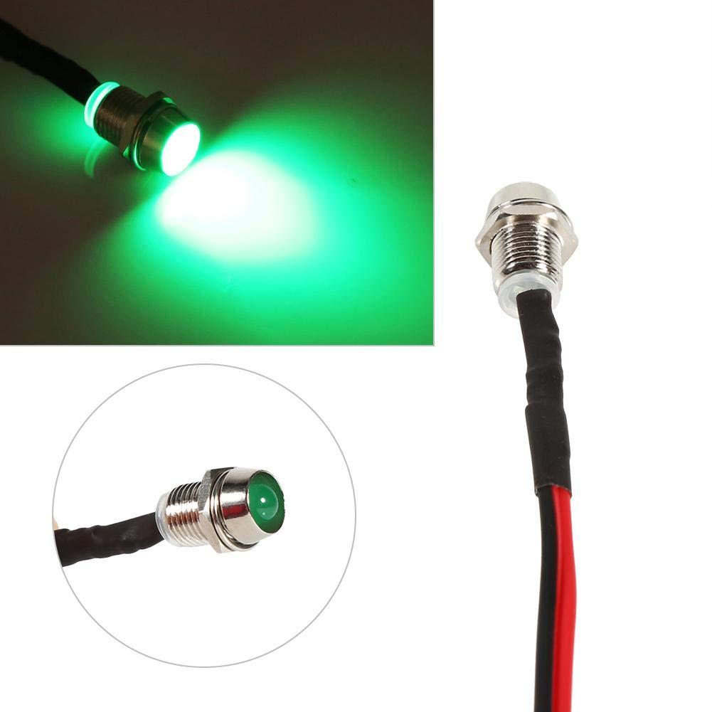 4 Pcs 12v LED Spia di segnalazione Spia Car Van Boat Indicatore di direzione Pilot Dash Bulbs Lampada direzionale 8mm Green