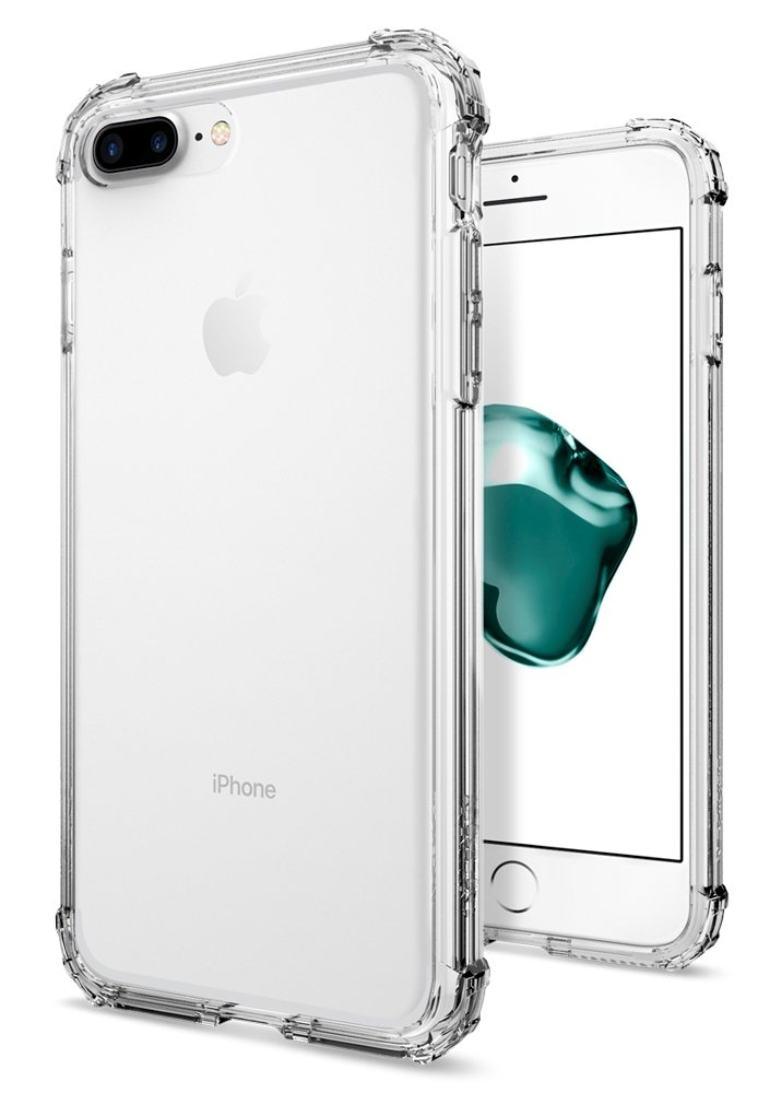 Spigen Crystal Shell Iphone 7 Plus Case With Clear Back Panel And Reinforced Corners On Tpu Bumper For Apple Iphone 7 Plus 2016