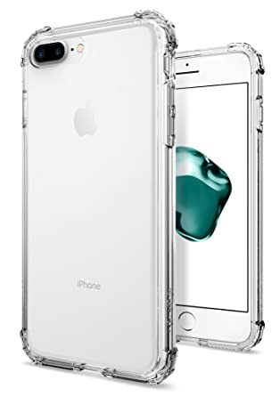 official photos fe937 cdced iPhone 7 Plus Case, Spigen® [Crystal Shell] Extra Shock-Absorb [Clear  Crystal] Clear back panel + Engineered TPU bumper for iPhone 7 Plus (2016)  - ...