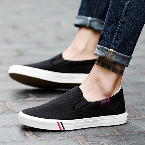 casual scarpe basse Black 44 Espadrillas tela Nuovo Scarpe YaNanHome stile uomo Color pedale Black casual da Scarpe moda Size Sqz81fw