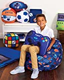 "iscream Old School! Rubik's Cube Shaped 11"" x 11"" x 11"" Microbead Accent Pillow"