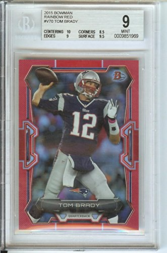 Football NFL 2015 Bowman Red Rainbow #70 Tom Brady 13/25 Patriots by tom brady