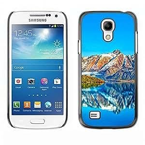 Caucho caso de Shell duro de la cubierta de accesorios de protección BY RAYDREAMMM - Samsung Galaxy S4 Mini i9190 - Hermosos paisajes de montaña