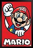 Pyramid America Super Mario Bros Mario Nintendo Framed Poster 12x18 inch