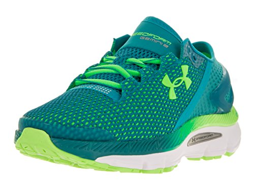 Under Armour Womens Ua Speedform Gemini 2.1 Scarpe Da Corsa Tahitian Verde Acqua / Bianco / Ribalta