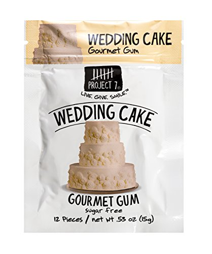 Project 7 Sugar Free Gum, Wedding Cake, 12 Pouches, 144 Pieces Total