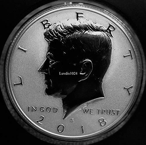 (2018 S Kennedy Half Dollar Light Finish Kennedy Silver Reverse Proof Rare Half Dollar Reverse Proof Silver Light Finish DCAM)
