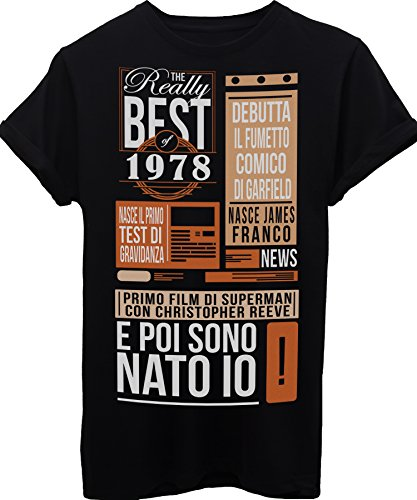 Birthday Giornale News Del I Vintage Eventi 1978 Di T Maglietta Nascita Image Compleanno Migliori Idea Regalo Anno shirt wpZxZOn7q6