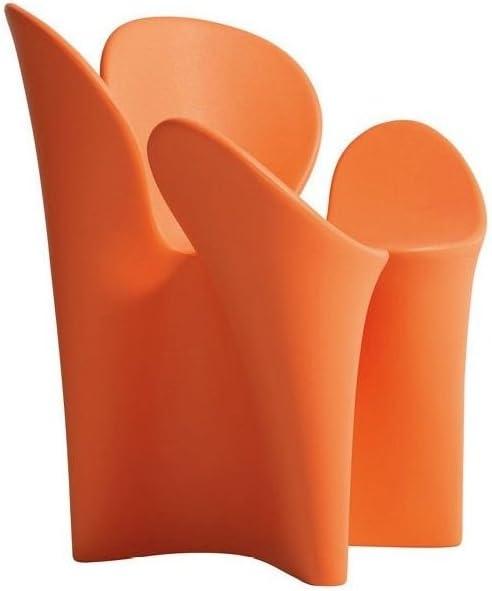driade - Silla con reposabrazos Clover Outdoor - Naranja ...