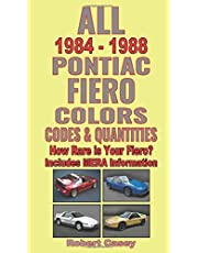 All 1984 - 1988 Pontiac Fiero Colors, Codes & Quantities: How Rare is Your Fiero?