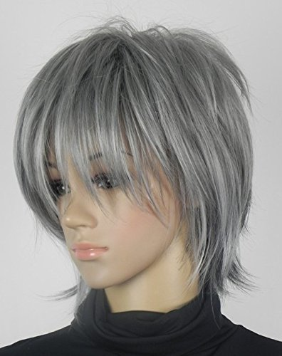 p Wan mixed with gray curly short daily gay wig (Nirvana Rong) straight hair