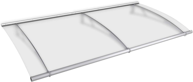 Schulte - Marquesina para puerta de casa de acero inoxidable, ampliable, placa satinada o transparente, resistente a los golpes y robusta: Amazon.es: Hogar
