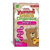 omega 3 for children - Yummi Bears Organics Omega 3 Gummy Vitamin Supplement for Kids, 90 Count