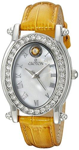 CROTON Women's CN207537YLMP Balliamo November Birthstone Analog Display Quartz Yellow Watch Croton Womens Quartz Stone
