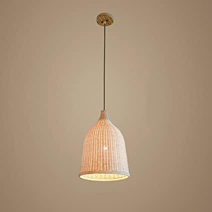 Amazon baycher 29 cm modern simple country craft bamboo pendant baycher 29 cm modern simple country craft bamboo pendant lamp grass rattan willow wooden ceiling lights aloadofball Choice Image