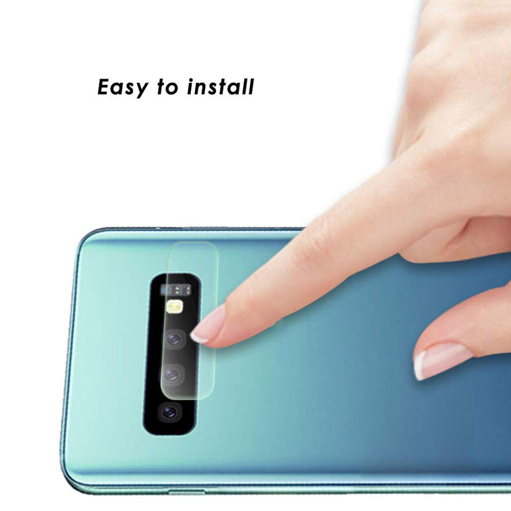 Lywey 2PCS No Hole Tempered Glass Protector Camera Film for Samsung Galaxy S10/S10+ by Lywey (Image #3)