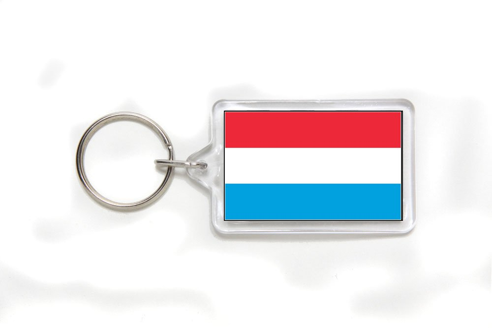 Luxembourg Luxembourgian Flag Double Sided Acrylic Key Ring Small