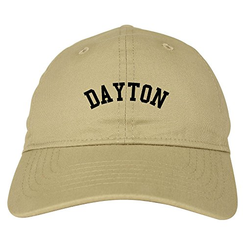 Dayton Ohio 6 Panel Dad Hat Cap Beige