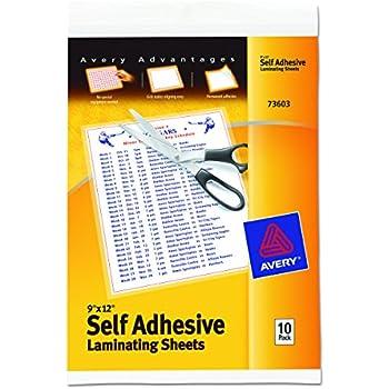scotch single sided laminating sheets instructions