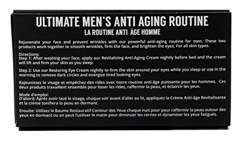 Brickell Men's Ultimate Anti-Aging Routine - Anti-Wrinkle Night Face Cream and Eye Cream to Reduce Puffiness, Wrinkles, Dark Circles, Under Eye Bags - Natural & Organic (Scented) by Brickell Men's Products (Image #5)