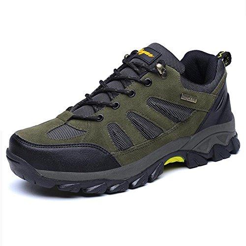 HQ Hiking Shoes Men Outdoor Leisure Non-slip On Foot Smoke Gray ArmyGreen ( Color : 1 , Size : EU40/UK7/CN41 ) 2
