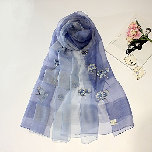 bluee SED ScarfEmbroidered Scarves, Embroidered Scarves, Silk Scarves, Shawls Imitation Cashmere Scarf Female Autumn and Winter Korean Students Knitted Shawl Long