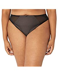 Elomi Womens Plus-Size Charley Mid-Rise Brazilian Brief