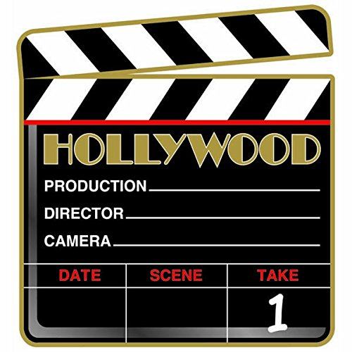Amscan Hollywood Clapboard Cutout Party Decoration, Multi Color, 11.2 x