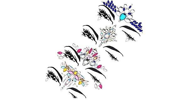 Facial Set Beautiful Resin Eye Sticker Adhesivo de frente Adhesivo ...