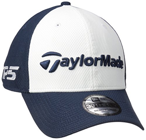TaylorMade Golf 2017 tour new era 39thirty white hat navy whitet m l 273df8be8b07