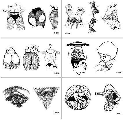 yyyDL Mujer Cuerpo Ojos Pegatinas de tatuaje temporal a prueba de ...