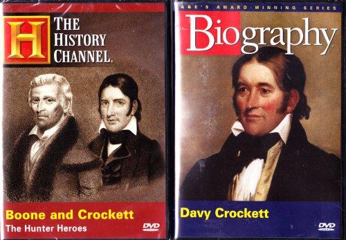 Davy Crockett Biography , Boone And Crockett The Hunter Heroes : The History Channel 2 Pack (Davy Crockett Dvd)