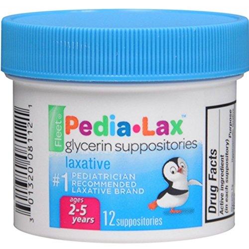 - Fleet Pedia-Lax Glycerin Suppositories 12 Each